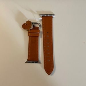 NWT 38/40mm brown leather Apple Watch band
